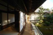 Drainage gutter in Seiryo-ji in Arashiyama.